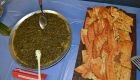 Afghan dishes from the event: sabzi and boulanee.