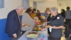 Kabultec supporters sample the buffet items at the 2017 Kabultec Benefit Dinner.